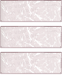 Burgundy Marble Blank 3 Per Page Laser Checks