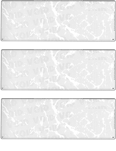 Grey Marble Blank 3 Per Page Laser Checks - 1