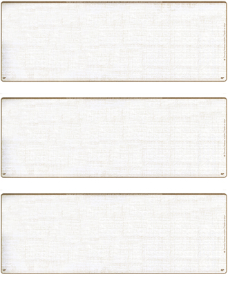 Tan Safety Blank 3 Per Page Laser Checks - 1