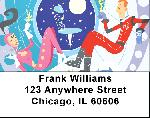Retro Space Address Labels