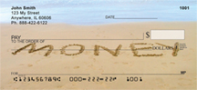 Messages In Sand Personal Checks