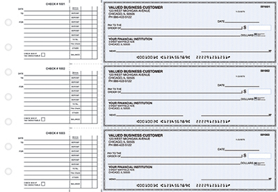Blue Linen Accounts Payable Business Checks - 1