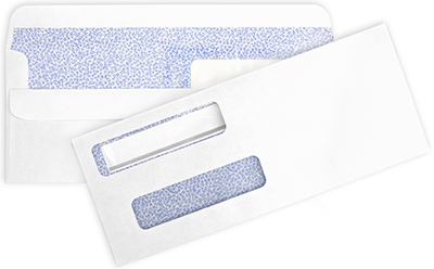 Double Window Self-Sealing Envelopes - 1