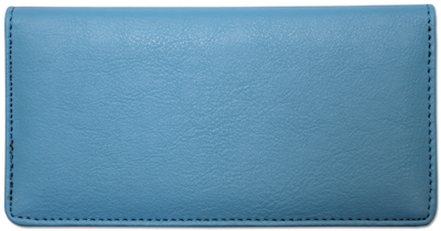Light Blue Textured Leather Cover