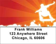 Hot Skateboarding Address Labels
