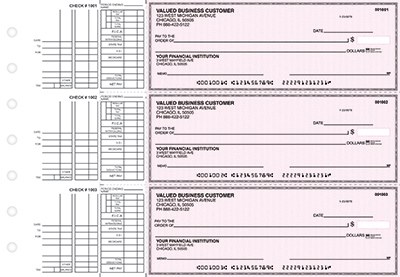 Pink Safety Multi Purpose Business Checks - 1
