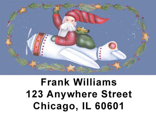 Santa's on the Way Address Labels - 1