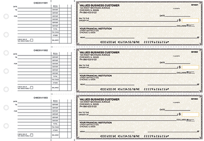Tan Parchment Accounts Payable Business Checks  - 1