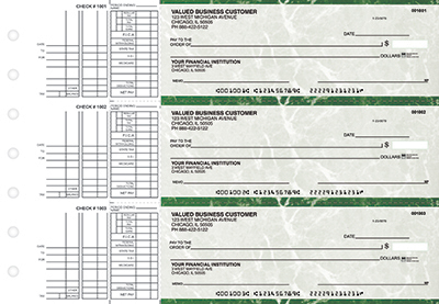 Green Marble Multi Purpose Business Checks - 1