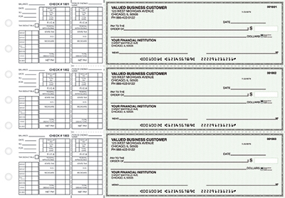Green Linen Payroll Business Checks - 1
