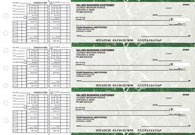 Green Marble Payroll Business Checks - 1