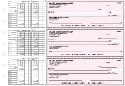Pink Safety Payroll Business Checks - 1