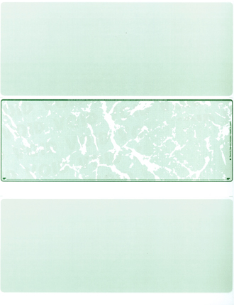 Green Marble Blank Middle Laser Checks - 1
