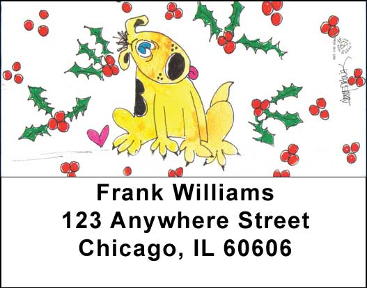 Holiday Puppy Address Labels - 1
