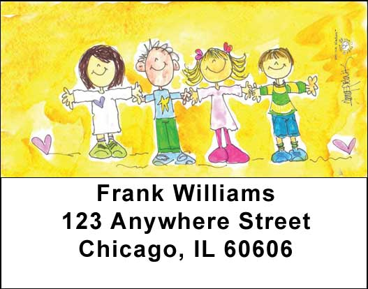 Friends Address Labels - 1