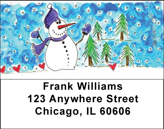 Snowman Address Labels - 1