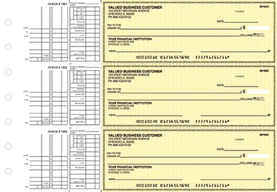 Yellow Safety Multi Purpose Business Checks - 1