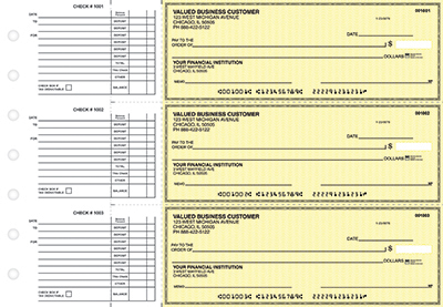 Yellow Safety Accounts Payable Business Checks - 1