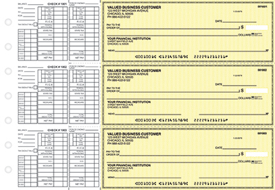 Yellow Safety Payroll Business Checks - 1