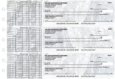 Gray Marble Payroll Business Checks  - 1