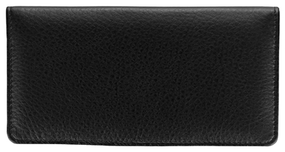 Black Leather Side Tear Checkbook Cover - 1