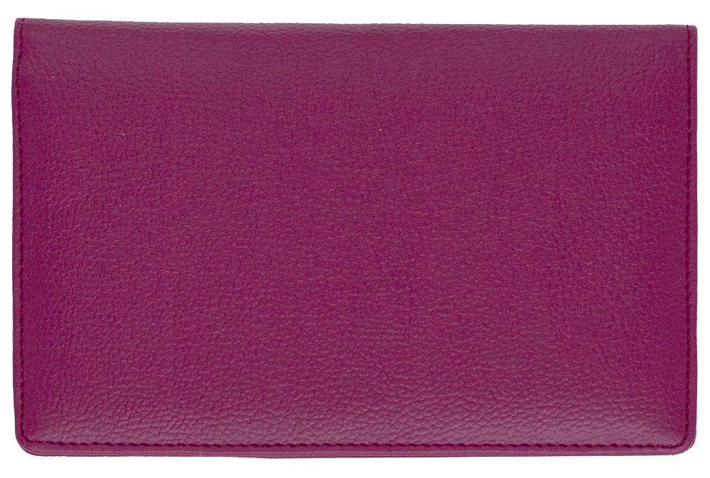 Burgundy Leather Top Stub Checkbook Cover - 1