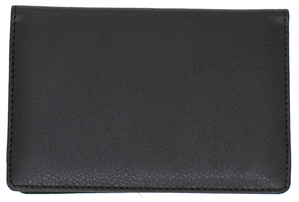Black Leather Top Stub Checkbook Cover - 1