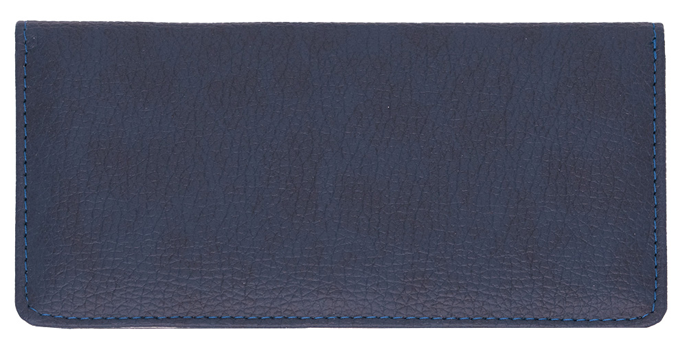 Navy Leather Side Tear CheckBook Cover - 1