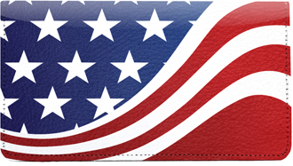 Flag Leather Checkbook Cover - 1