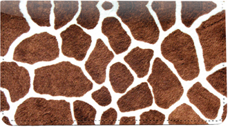 Giraffe Prints Leather Checkbook Cover - 1