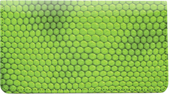 Iguana Print Leather Checkbook Cover - 1