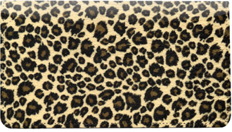 Leopard Print Leather Checkbook Cover - 1
